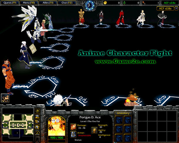Anime Character Fight v2.7a - Getdota map on