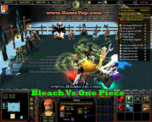 Bleach Vs One Piece V13 Getdota Map