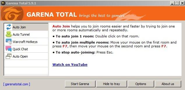 Tool] garena auto join 5. 2. 1 (auto join, auto ping, hotkey).